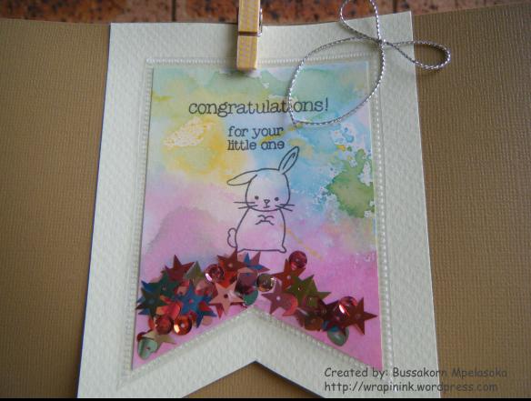 Gift bag with shaker tag 1b
